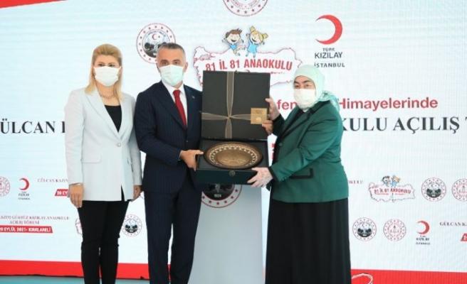 AK Parti Genel Başkanvekili Binali Yıldırım'ın eşi Semiha Yıldırım Kırklareli'nde anaokulu açılışı yaptı
