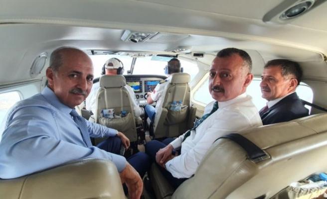 AK Parti Genel Başkanvekili Kurtulmuş İzmit Körfezi'ni havadan denetledi