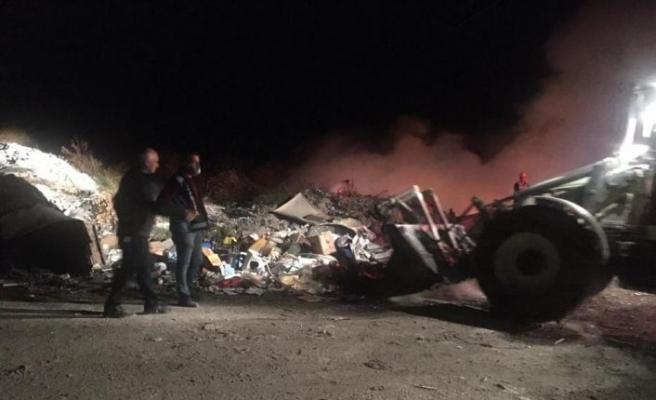 Bilecik'te çöplük alanda çıkan yangına müdahale ediliyor