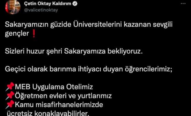 Sakarya'da üniversite öğrencilerine geçici olarak ücretsiz konaklama imkanı
