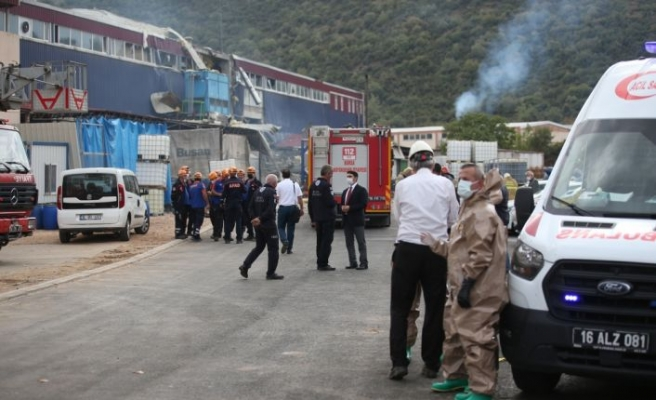 Bursa'da kimya fabrikasında meydana gelen patlamada 1 işçi öldü 6 işçi yaralandı