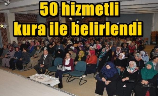 50 hizmetli kura ile belirlendi
