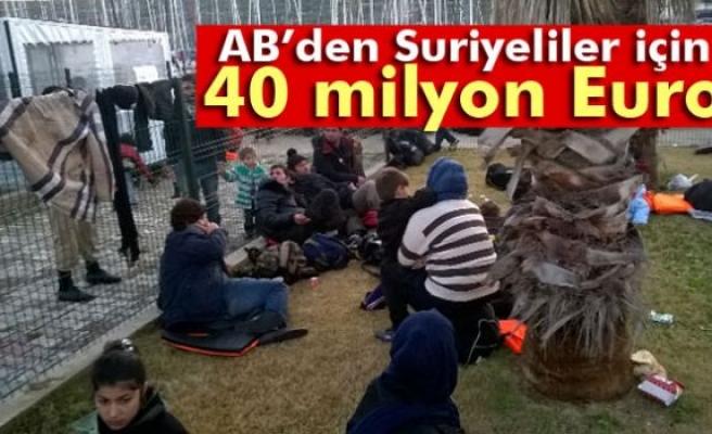 AB'den Türkiye'deki Suriyeli mülteciler için yardım