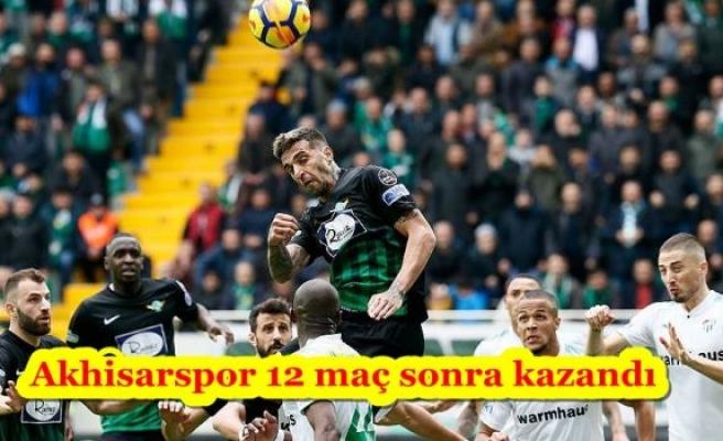 Akhisarspor 12 maç sonra kazandı