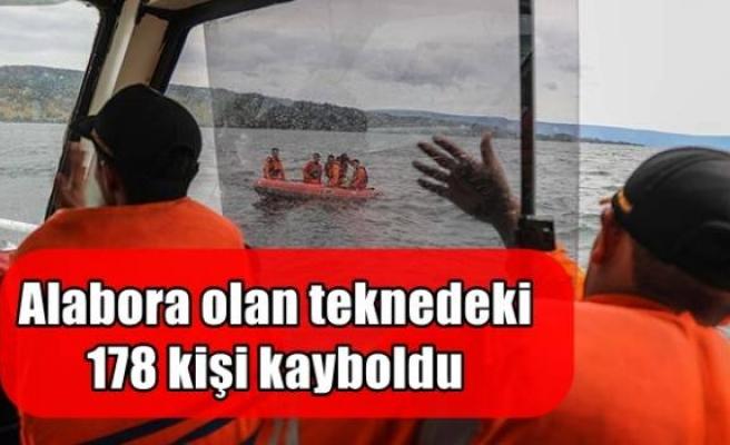 Alabora olan teknedeki 178 kişi kayboldu