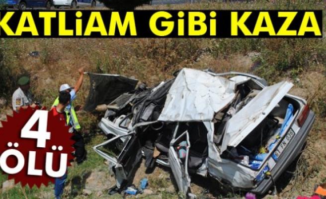 Amasya'da feci kaza: 4 ölü
