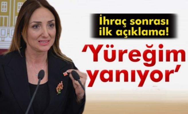 Aylin Nazlıaka: 'Yüreğim yanıyor'