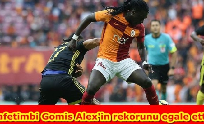Bafetimbi Gomis Alex'in rekorunu egale etti