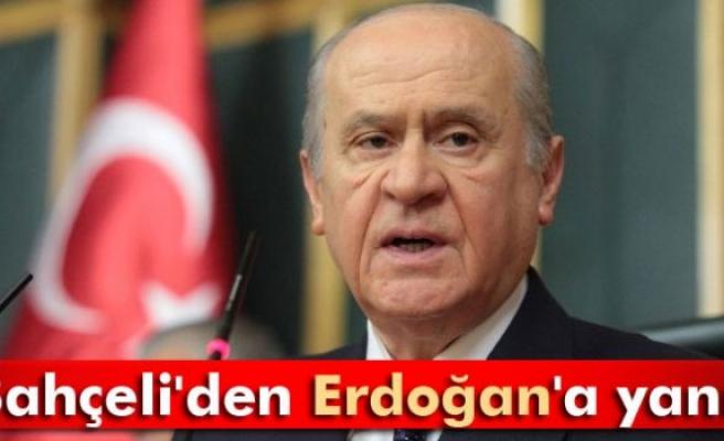 Bahçeli'den Erdoğan'a yanıt