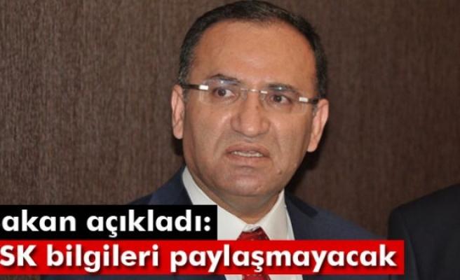 Bakan Bozdağ'dan kimlik bilgilerinin sızdırılması açıklaması