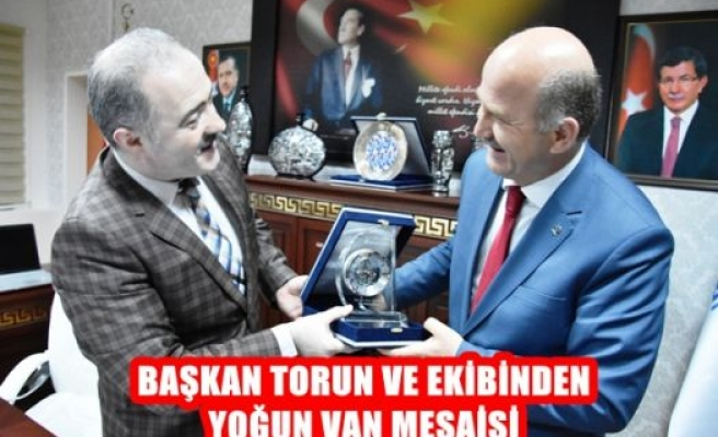 Başkan Torun ve Ekibinden Yoğun Van Mesaisi