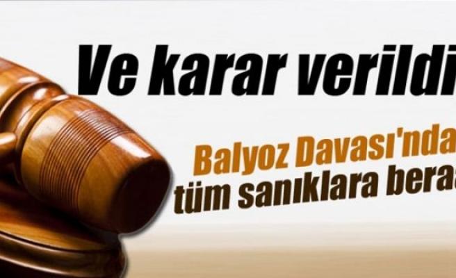 Balyoz Davası'nda beraat kararı verildi