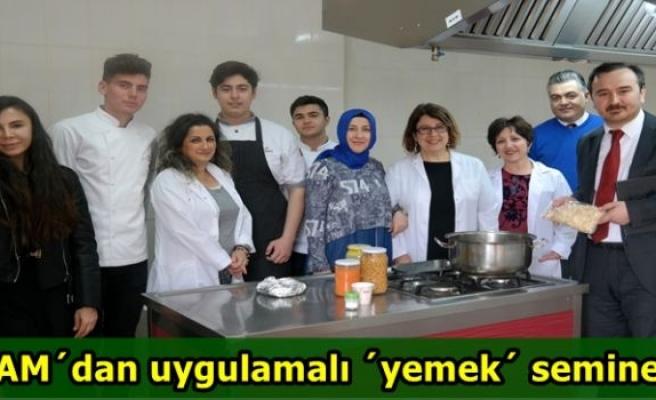 BAM'dan uygulamalı 'yemek' semineri