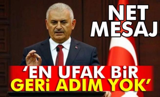 Başbakan Yıldırım terörle mücadelede kararlılık mesajı verdi