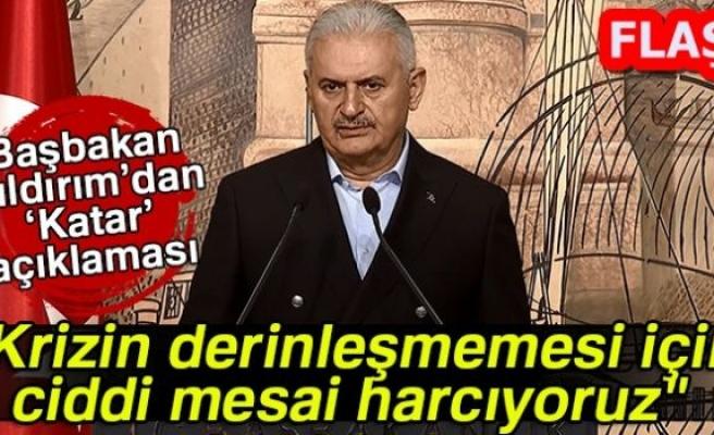 BAŞBAKAN'DAN FLAŞ KATAR AÇIKLAMASI!