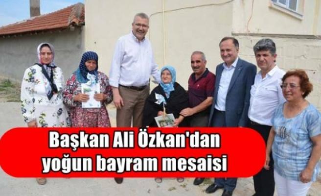Başkan Ali Özkan'dan yoğun bayram mesaisi