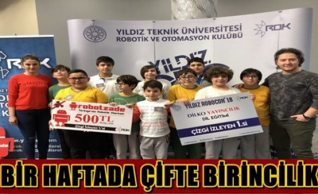 BİR HAFTADA ÇİFTE BİRİNCİLİK
