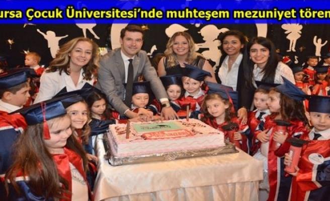 Bursa Çocuk Üniversitesi'nde  muhteşem mezuniyet töreni