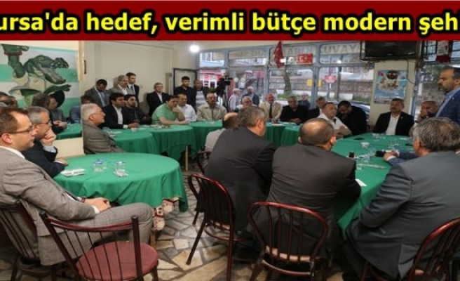 Bursa'da hedef, verimli bütçe modern şehir