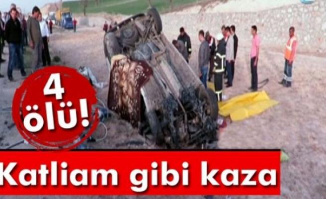 Cenaze nakil aracına çarptı: 4 ölü!