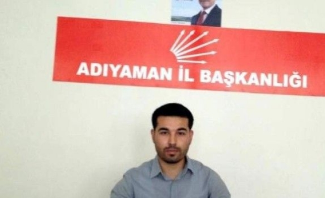 CHP Adıyaman Gençlik Kolları Başkanı İstifa Etti