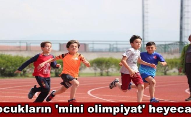 Çocukların 'mini olimpiyat' heyecanı
