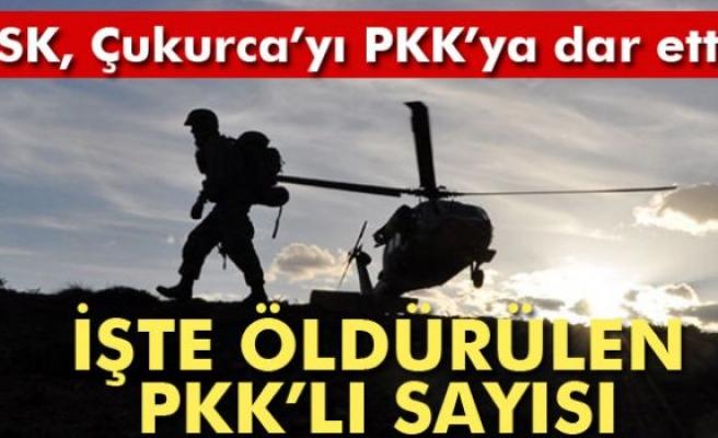 Çukurca'da öldürülen terörist sayısı 204'e ulaştı