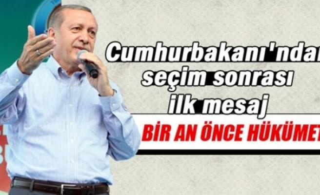 Cumhurbaşkanı Erdoğan 7 Haziran'dan sonra ilk kez konuştu