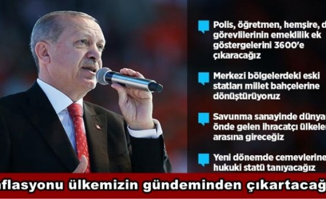 Cumhurbaşkanı Erdoğan: Enflasyonu ülkemizin gündeminden çıkartacağız