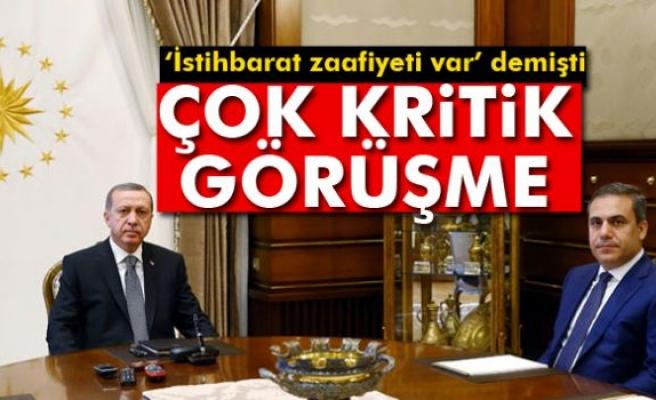 Cumhurbaşkanı Erdoğan, Fidan'ı kabul edecek
