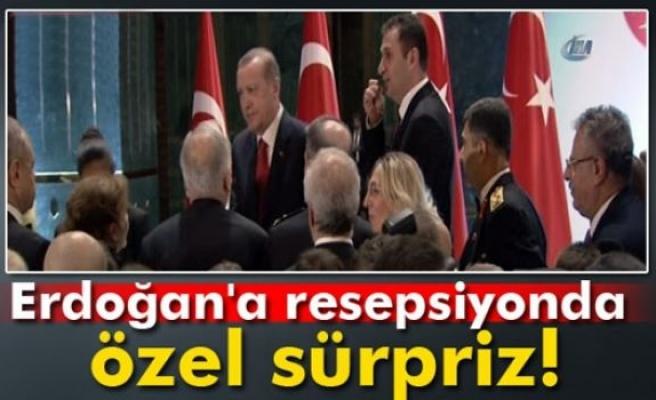 Cumhurbaşkanı Erdoğan'a resepsiyonda özel sürpriz