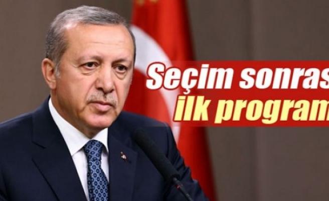 Cumhurbaşkanı Erdoğan'ın seçim sonrası ilk programı belli oldu