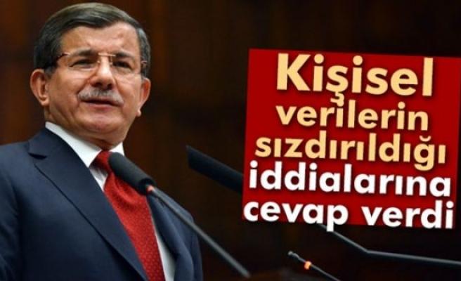 Davutoğlu, 'Kişisel verilerin sızdırıldığı' iddialarına cevap verdi