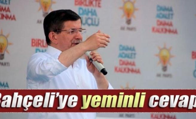 Davutoğlu'ndan Bahçeli'ye yeminli cevap!