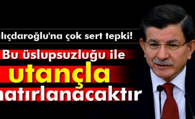 Davutoğlu'ndan Kılıçdaroğlu'nun o sözlerine sert tepki