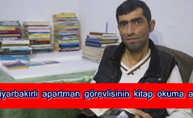 Diyarbakırlı apartman görevlisinin kitap okuma aşkı
