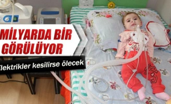 Ece Nur bebek 5 milyarda bir görülen hastalıkla savaşıyor