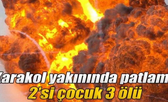 Elazığ'da karakol yakınında patlama: 2'si çocuk 3 ölü