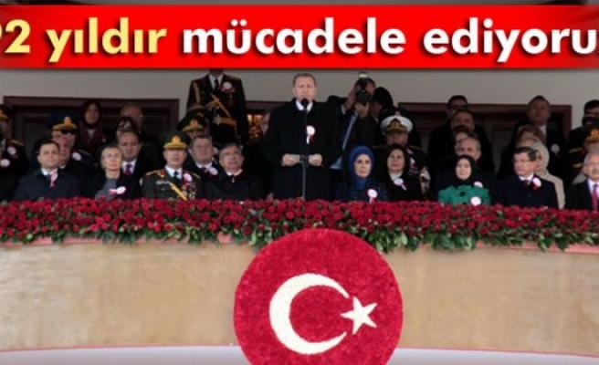 Erdoğan: '92 yıldır mücadele ediyoruz'