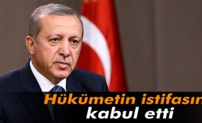 Erdoğan Bakanlar Kurulu'nun istifasını kabul etti