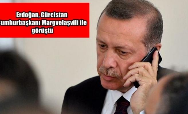 Erdoğan, Gürcistan Cumhurbaşkanı Margvelaşvili ile görüştü