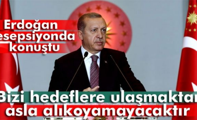 Erdoğan: 'Terör olayları bizi hedeflere ulaşmaktan asla alıkoyamayacaktır'