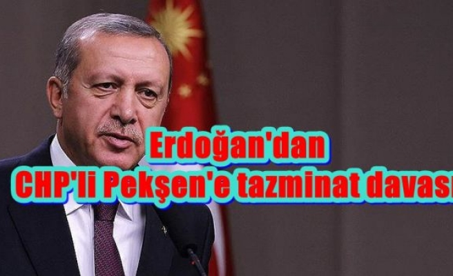 Erdoğan'dan CHP'li Pekşen'e tazminat davası