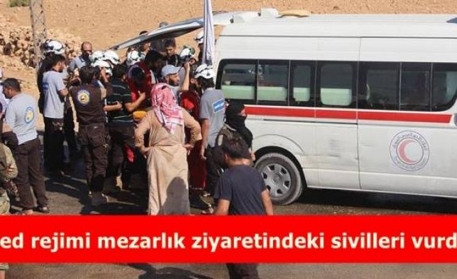 Esed rejimi mezarlık ziyaretindeki sivilleri vurdu