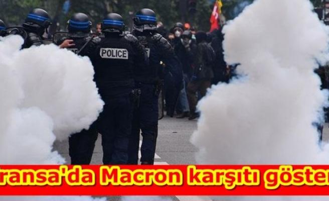 Fransa'da Macron karşıtı gösteri