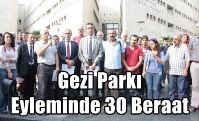 Gezi Parkı Eyleminde 30 Beraat