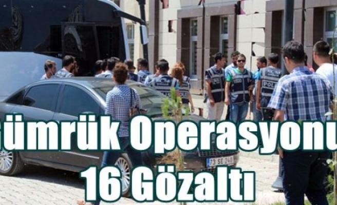 Gümrük operasyonu: 16 gözaltı