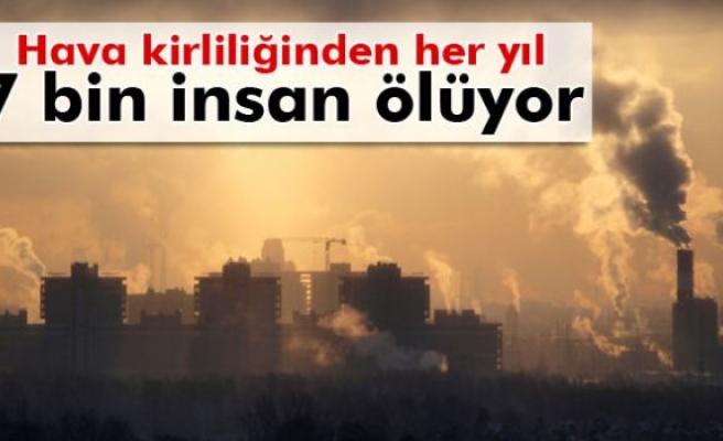 Hava kirliliğinden Türkiye'de her yıl 7 bin insan ölüyor