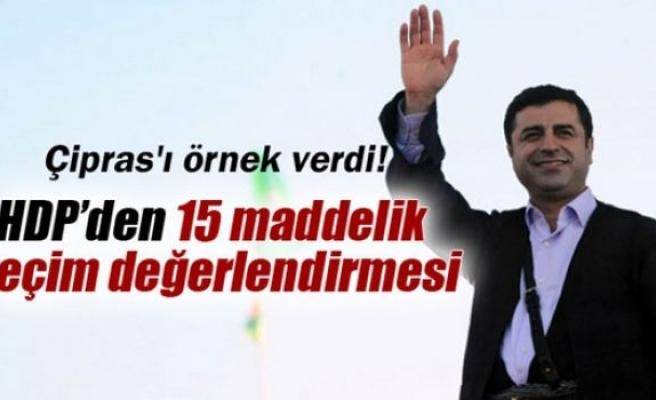 HDP'den 15 maddelik seçim değerlendirmesi