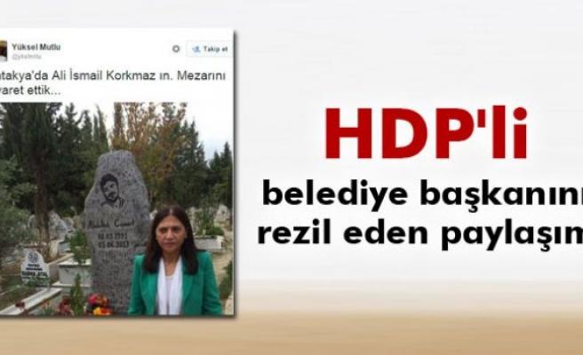HDP'li belediye başkanını rezil eden tweet